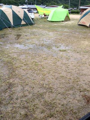 テント張ってた場所。。。