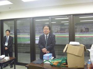 薫田社長が来てくださいました