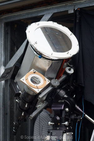 Télescope équipé de filtre