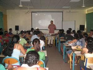 Christian Veillet au Lycée de Papara