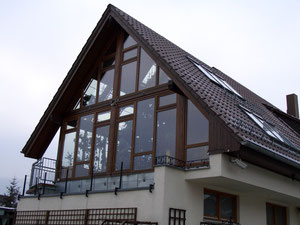 Wintergarten Neubau - Ostseite