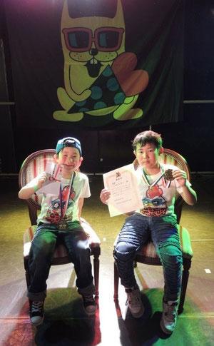 2ON2優勝 あい(ZIG ZAG)&JUN(Booty a$$)