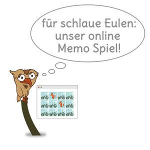 Für schlaue Eulen: das Memo Onlinespiel