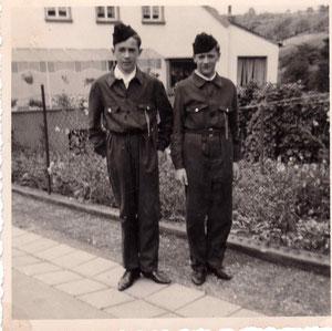 Rudi Endres und Joachim Fellinger in 1966