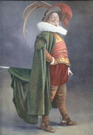 Rôle de Cyrano qu'il interprète le 15 mars 1913 sur les planches de la Porte Saint-Martin (extrait de la revue Le Théâtre juin 1913 - N°347) (collection de l'auteur)
