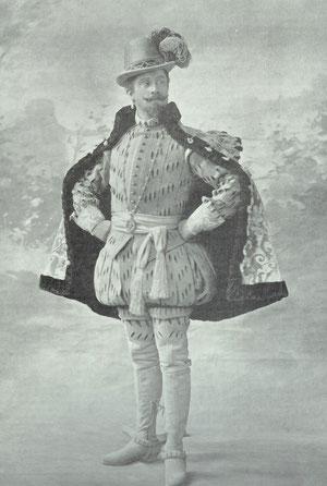 Le Bargy dans le rôle de la Trémoille de PATRIE (Le Théâtre - Mai 1901 - N°58) (collection de l'auteur)