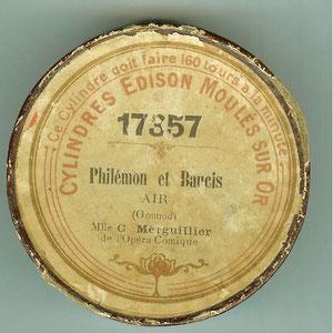 Reproduction d'une étiquette de cylindre Edison (coll. de l'auteur)