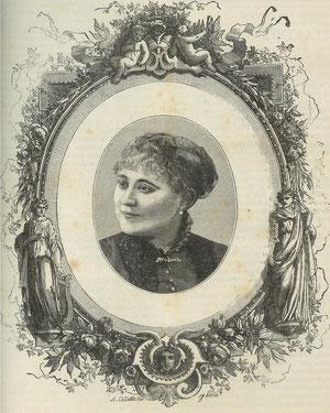 """Cécile Merguillier faisant la couverture de """"La Musique des Familles"""" du Jeudi 27 janvier 1887 - Merci à Serge Escalaïs pour ce document rarissisme."""