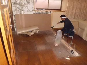 キッチン解体撤去後