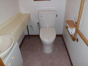 清潔感溢れるトイレに・・
