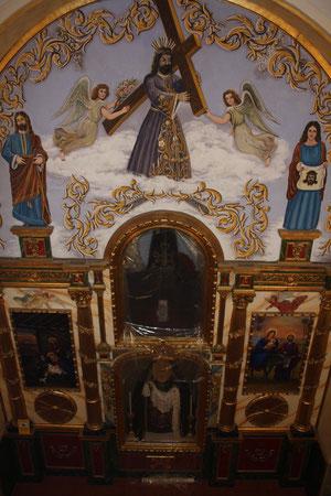 El retablo visto desde el elevador.