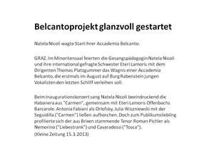 Konzertkritik: Belcanto Juwelen