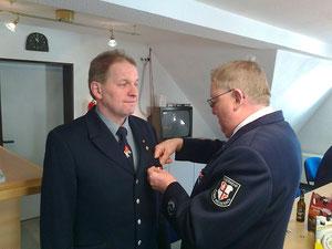 Ehrung für 35 Jahre aktiven Dienst bei der Feuerwehr