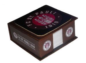 Zettelbox aus Graupappe FC.ST.Pauli