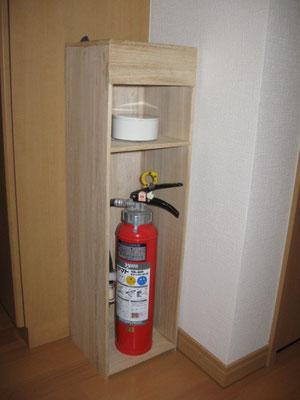桐の消火器ケース