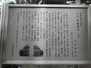 木造狛犬の説明文