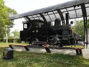 なぜか機関車がありました