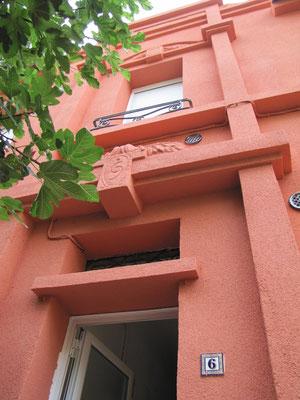 Façade 6 rue Cruzel à Cerbère