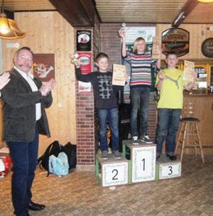 1.Platz: Maurice Hörnig (Großthiemig) 2.Platz: Nick Fritzsche (Ortrand) 3.Platz: Marvin Köhler (Gornau)