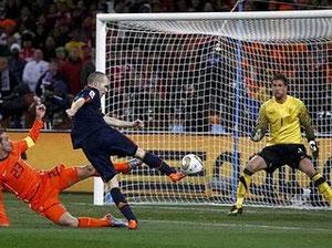 Gol de Iniesta ante Holanda en Mundial 2010