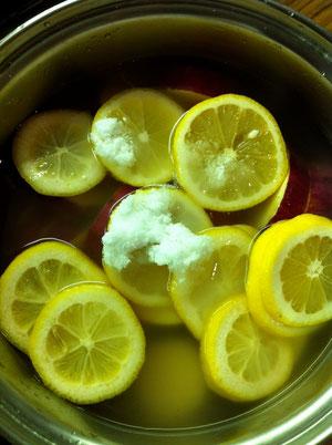 さつまいも レモン煮