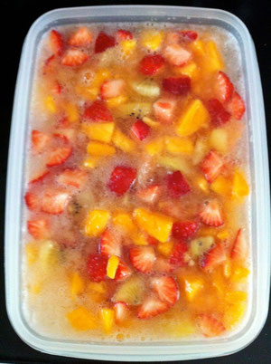 フルーツゼリー レシピ キウイ グレープフルーツ イチゴ マンゴー