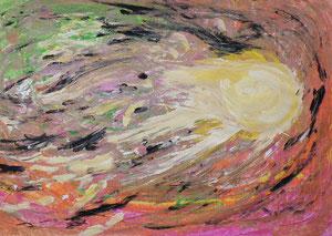 Komet, Temoerafarben, 42 x 60 cm