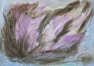 Pastellkreiden, lila, 41 x 59 cm