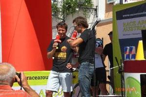 Im Gegensatz dazu: 2013 beim Race Around Austria erstmals als aktiver Rennfahrer