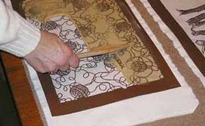 Техника вырезных бумажных трафаретов катагами (Katagami)