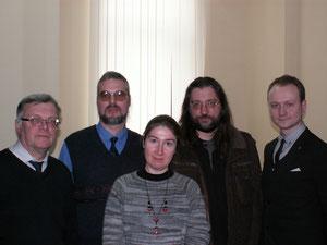 Слева направо: В.В. Винокуров, И.П. Давыдов, О.В. Осипова, А.В. Апполонов, И.А. Фадеев