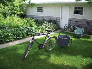 Recycled Bicycle Parts Make Handy Carts