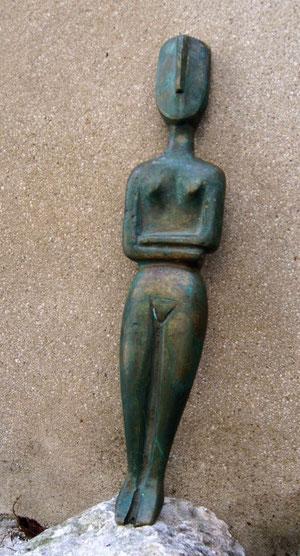 sculpture résine cyclade artiste