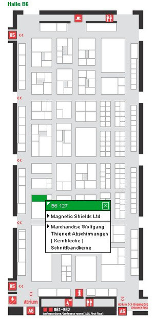 hall b6 and booth 127 on Electronica 2012
