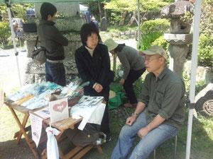 久々にボランティア活動をする小野さんの図