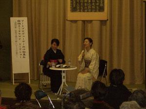 トークショーの様子②ミヤケさんと山口さん