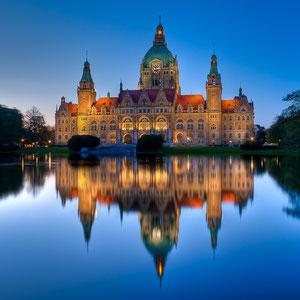 Neues Rathaus mit Maschteich (Copyright Martin Schmidt)