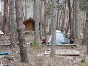 キャンプ場 野底山森林公園キャンプ場