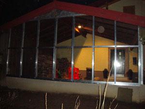 Glasfassade für Carport