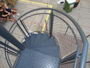 Spindeltreppe aus Aluminium für Veranstaltungsanhänger