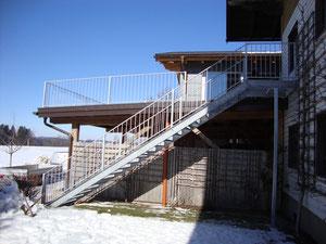 Stahltreppe verzinkt