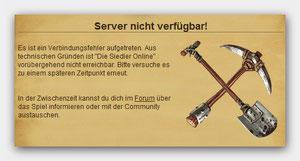 wartung arbeiten die siedler online
