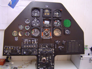Bell 209 AH-1F Cockpit panel step 1 Prototype
