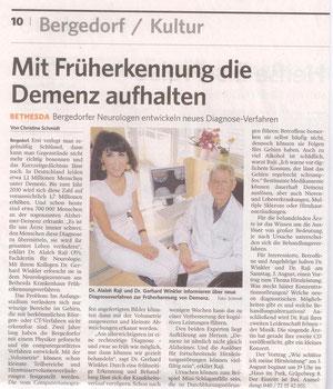 Artikel in der Bergedorfer Zeitung vom 19.07.2013