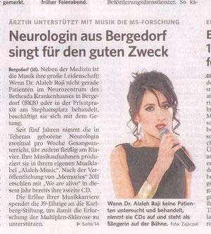 Titelblatt Bergedorfer Zeitung