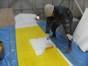 シートの下地塗装