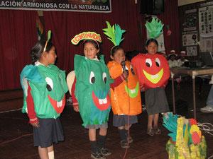 Théâtre inspiré par le Potager Educatif (Cusco - Pérou)