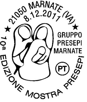 Giovedì 8 dicembre Il Gruppo Presepi celebrerà i dieci anni di mostra con un annullo postale