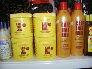 Care Free Curl (Relaxer & Shampoo)