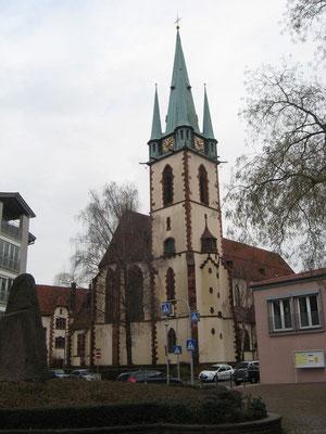 Biserica Sfinţilor Apostoli Petru şi Pavel din Durlach, văzută din spate